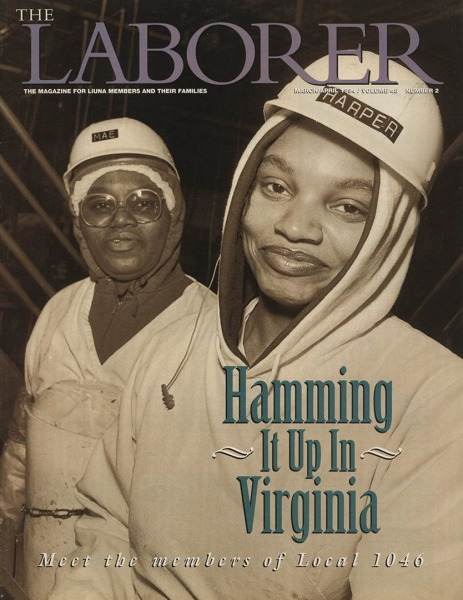 For LiUNA- the Laborers International Union at Smithfield Hams plant, Smithfield VA. Pictures made Feb. 1994